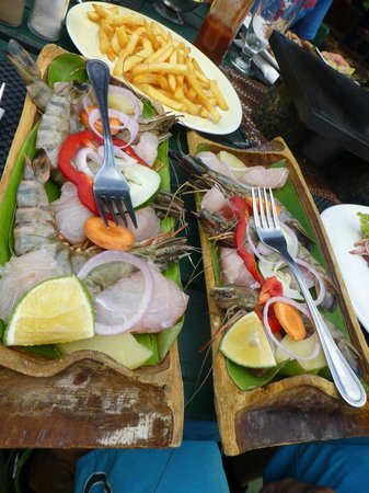 Maria's Rock Cafe: Hot Stone - Fish and Prawns