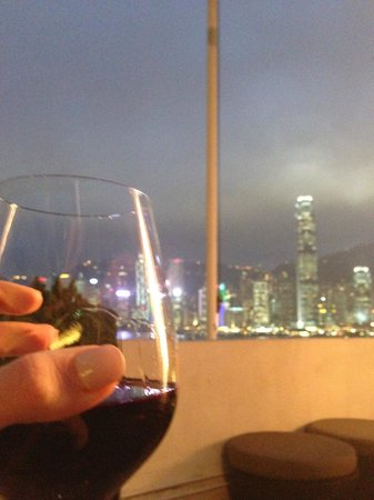 Marco Polo Hongkong Hotel : View from the terrace
