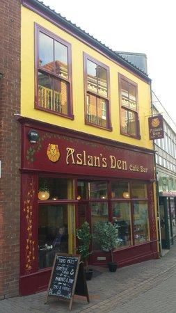 Aslan's Den: The front of Aslan's Den