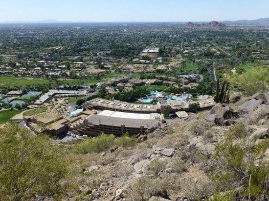 The Canyon Suites at The Phoenician: View of hotel from Camelback