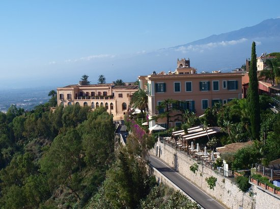 San Domenico Palace Hotel: A view from the main square of San Domenico