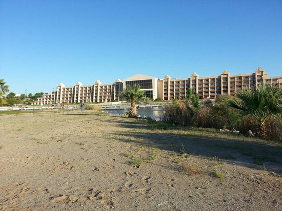 BlueWater Resort and Casino: View from the little island