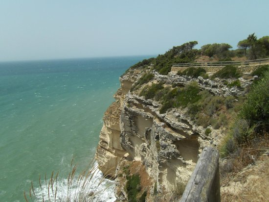 Hotel Madreselva : View from the cliff walk between Los Canos and Barbate