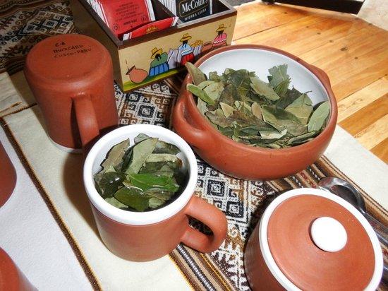 Unaytambo Hotel: Coca tea