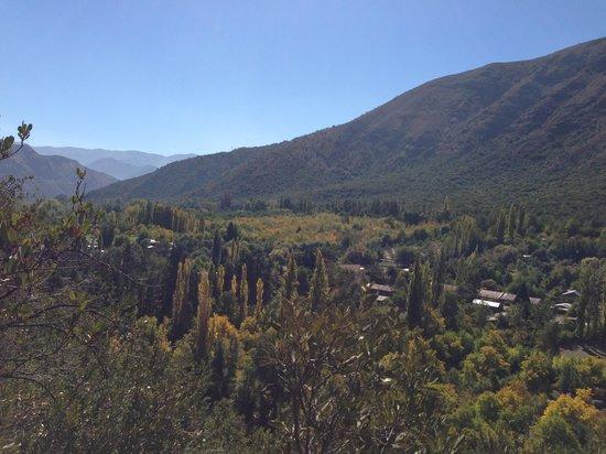Cascada de las Animas: The view from the top of our 2-hour horse ride