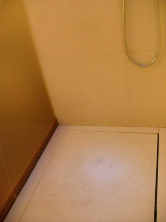 nhow Milano : spacious rainhead shower, nice drainto side, no door