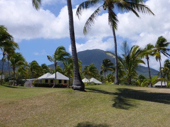 Nisbet Plantation Beach Club: Nevis Peak from the beach