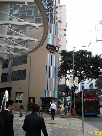 OZO Wesley Hong Kong: corner side of the hotel