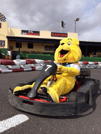 Lanzarote Karting: We had some fun there today with our Resort mascot Buddy, thanks John & Irene for all your help.