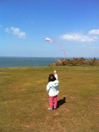 Rhossili Bay: Let's go fly a kite!