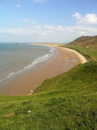 Rhossili Bay: View from top