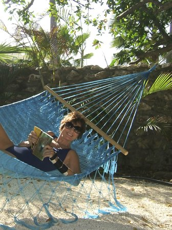 Boardwalk Hotel Aruba : Favorite  private spot , hammock by the casita