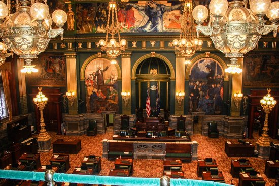 Pennsylvania State Capitol: The Senate Chamber
