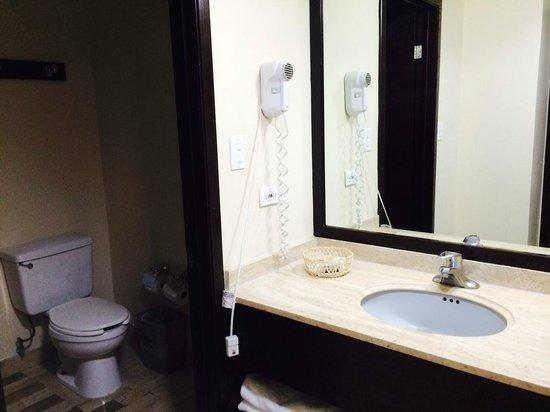 Quality Inn Chihuahua: Baño con humedades