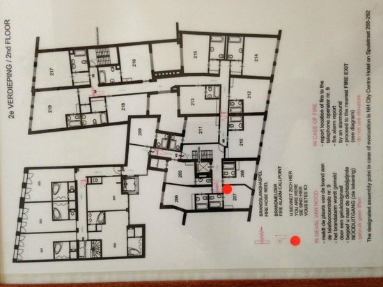 Hotel Estherea: Layout of the 2nd floor