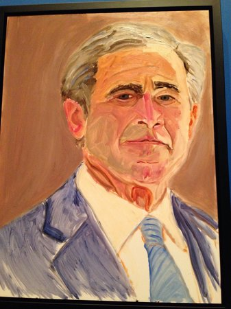 The George W. Bush Presidential Library and Museum: Great artwork by our former president