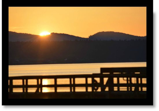 Washington State Ferries: Sunset at West Beach Resort , Orcas Island - worth the ferry wait