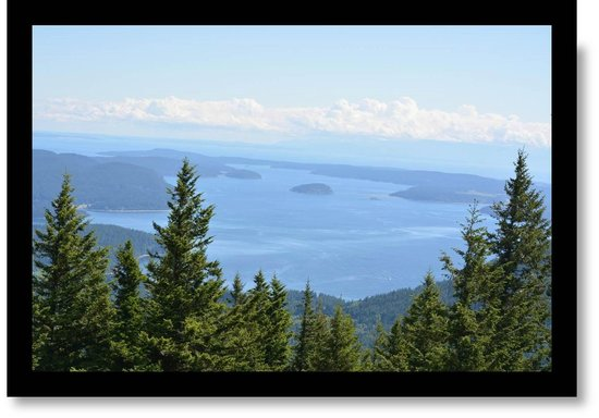 Washington State Ferries : View from Mt. Constitution - San Juan Islands