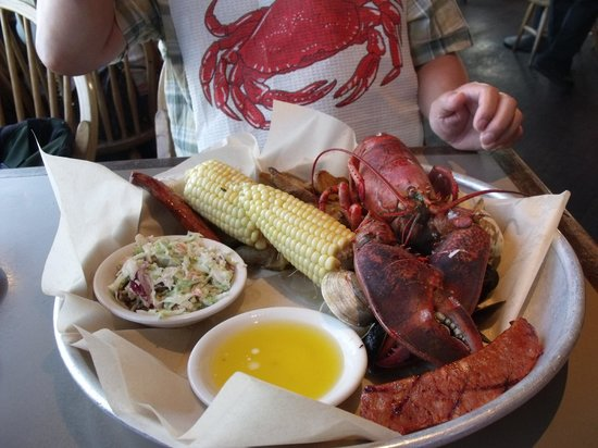 Sam's Chowder House: Lobster bake for two, Delicious!
