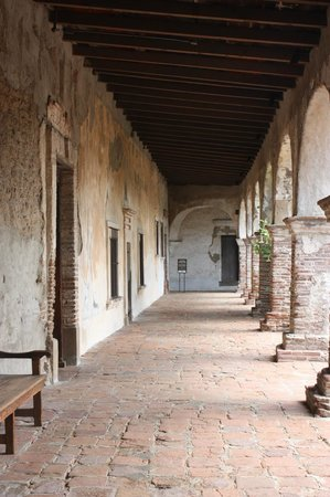 Mission San Juan Capistrano: One of the walkways at the mission