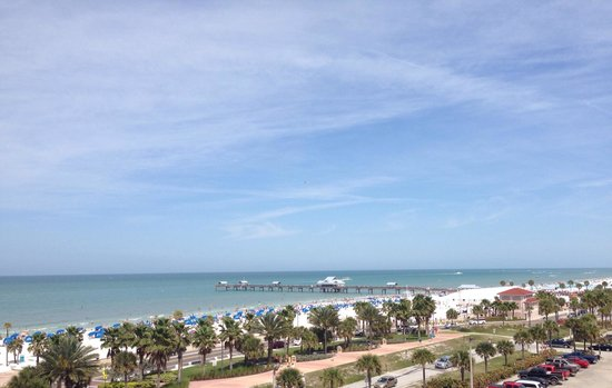 Clearwater Beach: Beautiful view of gulf coast!