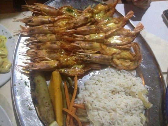 Braza: Mozambican style king prawns