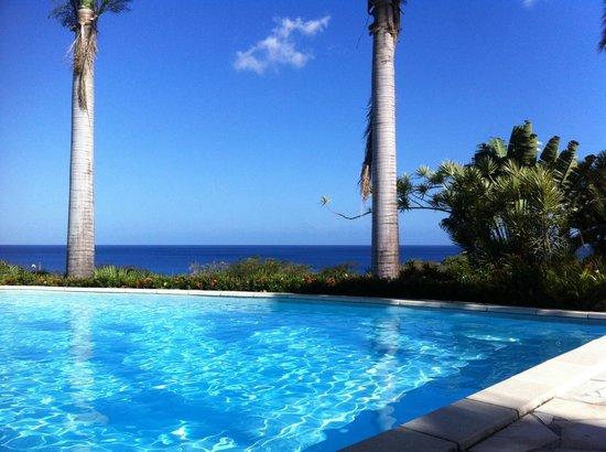 Hotel Au 'Ti Sucrier : vista dalla piscina