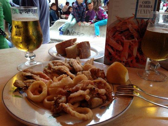 Cunini: Fritura de pescado, excelente!!