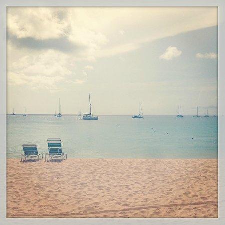 Bay Gardens Beach Resort: View from the beach.