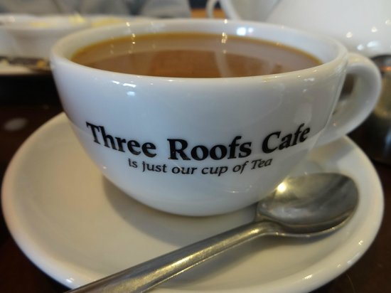 The Three Roofs Cafe: Decaf coffee