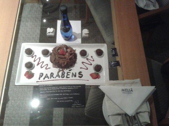 Melia Jardim Europa: Cortesia do Hotel Meliá pelo aniversário do meu pai!
