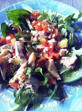 I'Licchio: Insalatina di fegato di baccalà - Cod liver salad