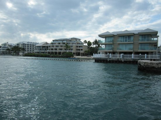 Pier House Resort & Spa: A view of the hotel from the sea.