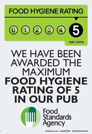We Have Twice Been Awarded The Maximum 5 Star Food Hygiene
