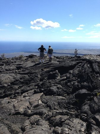 Native Guide Hawaii: surveying new land created by lava