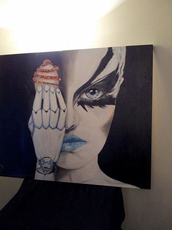 Saltum, Danmark: TECNOSOPHIA 100X120 Oil on canvas swarovski Vernissage via Monte Napoleone Milano