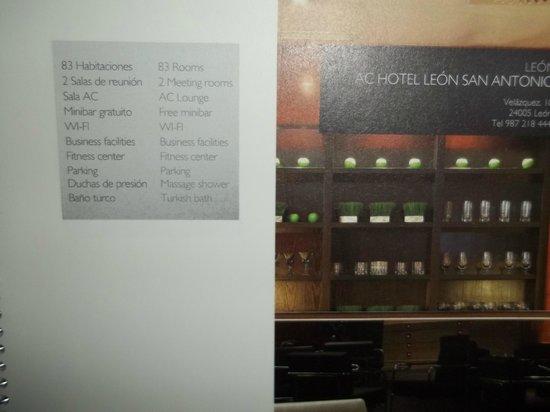 AC Hotel Leon San Antonio: las bebidas....