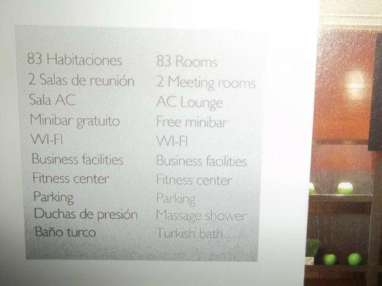 AC Hotel Leon San Antonio: los servicios que se anuncian que posee la habitación y no existen en muchos casos.