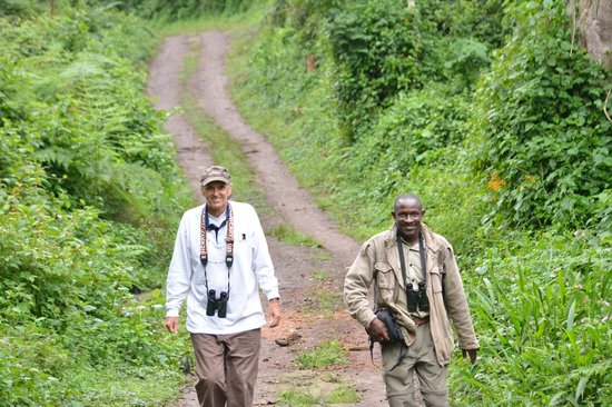 Broadbill Forest Camp: On the path with Emmy with the endless birds