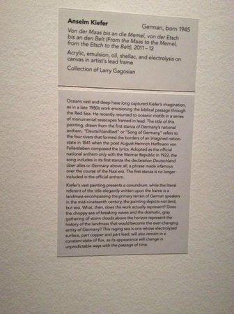 Albright-Knox Art Gallery: Descriptive label