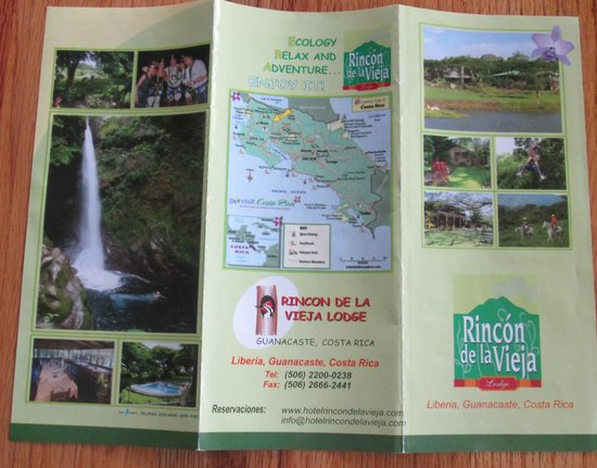 Rincon de la Vieja Lodge : the brochure