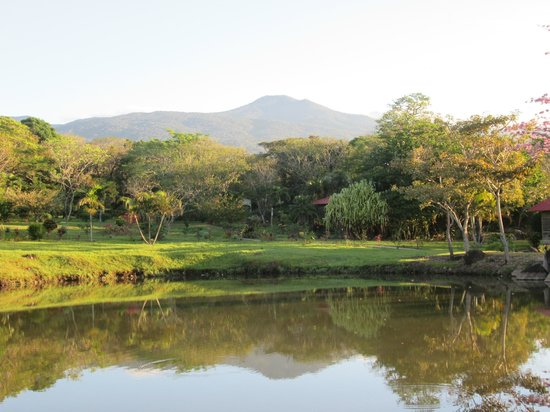 "Rincon de la Vieja Lodge: quite a backdrop, eh? a couple ""cabanas"" nestled in the forest"