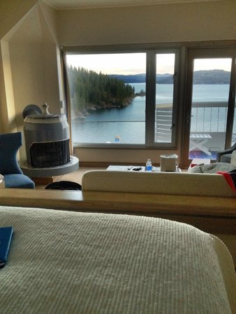 The Coeur d'Alene Resort: view from the room