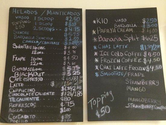 Cuti's : menu