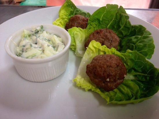 The Tap House: Tandoori Meatballs & Raita