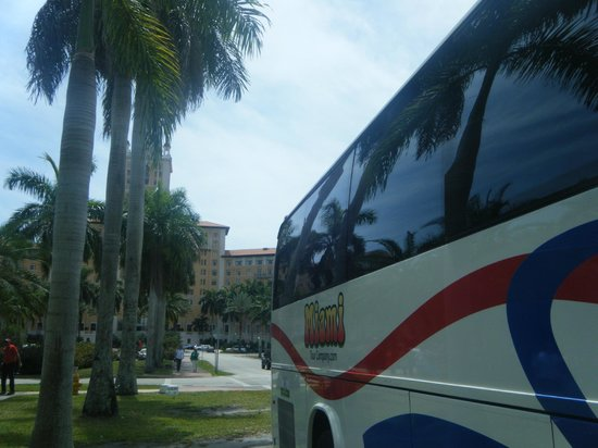 Miami Tour Company: In front of the Biltmore Hotel stop