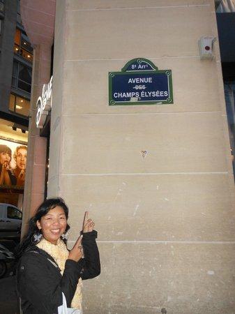 Champs-Élysées : Placa da chaps-elysee