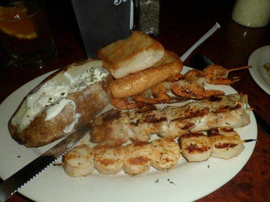 Flo's Place grilled seafood platter (wtih mahi mahi)