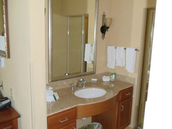 Homewood Suites Decatur-Forsyth: Sink outside bathroom