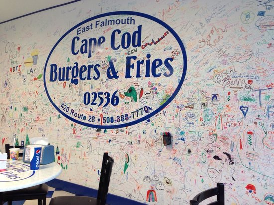 Cape Cod Burgers And Fries: Wall art!